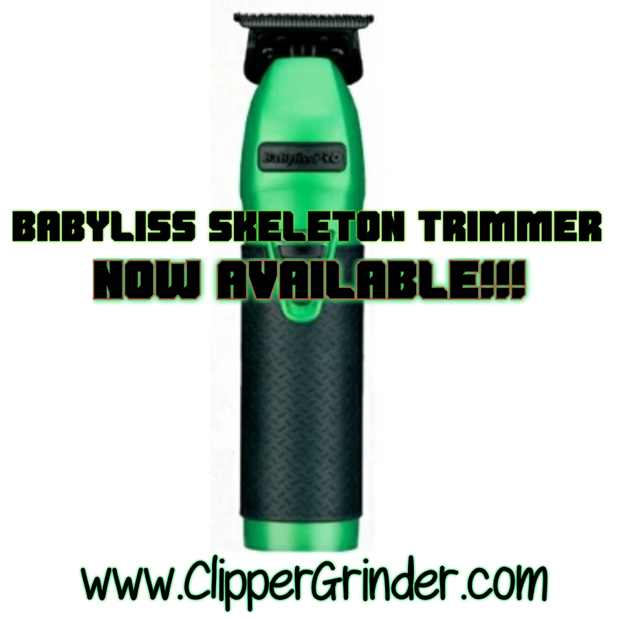 """Image of  Limited Edition Green/Black Influencer Babyliss Trimmer W/""""Modified"""" Fx707b2 Blade"""