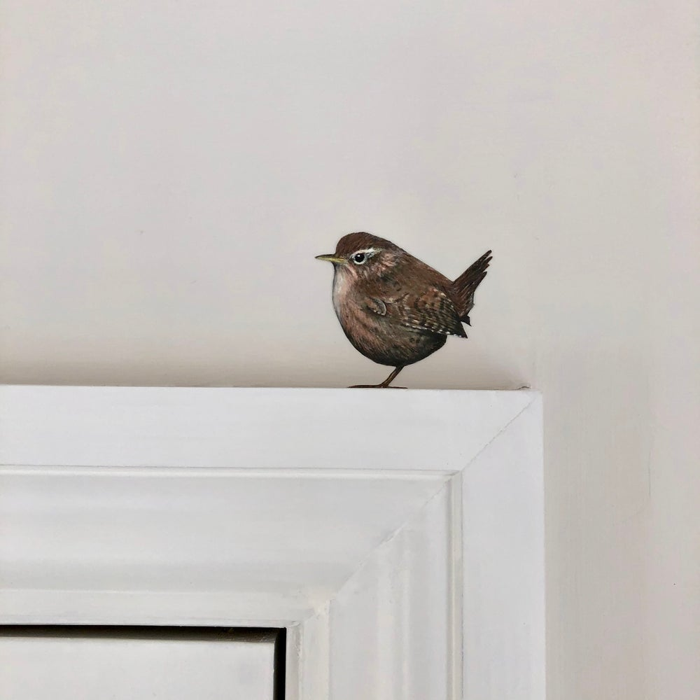 Image of NEW! Jenny Wren wall sticker.