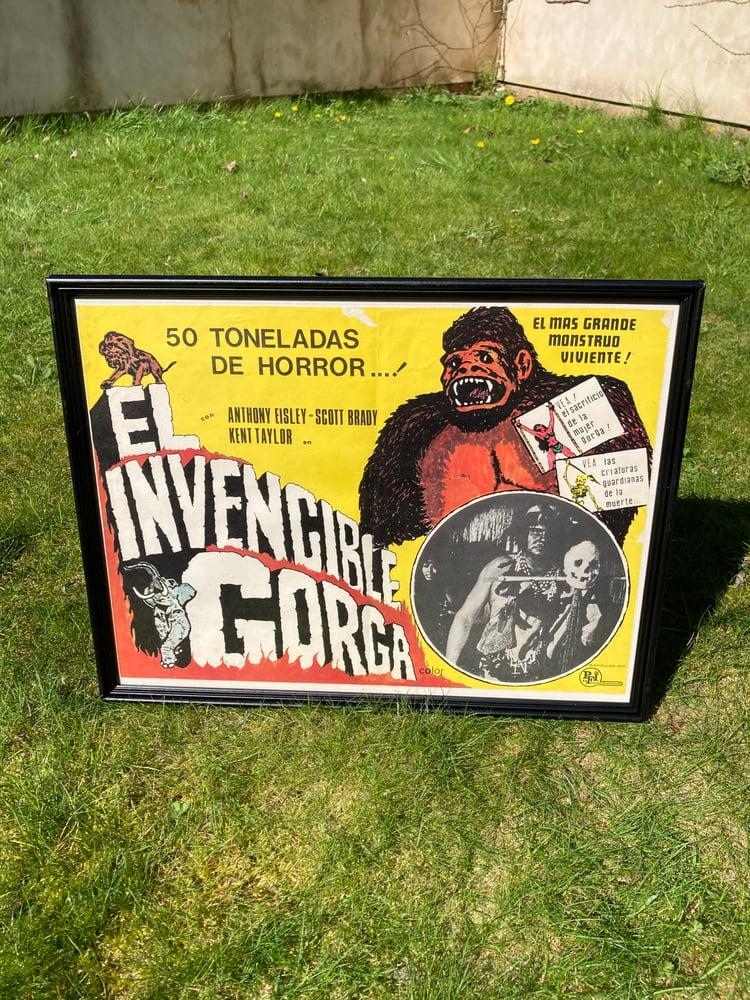 Image of El Invencible Gorga vintage Mexican poster