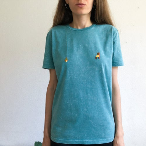 Image of Sunny nips t-shirt no.4 // hand embroidered organic cotton t-shirt, available in ALL sizes