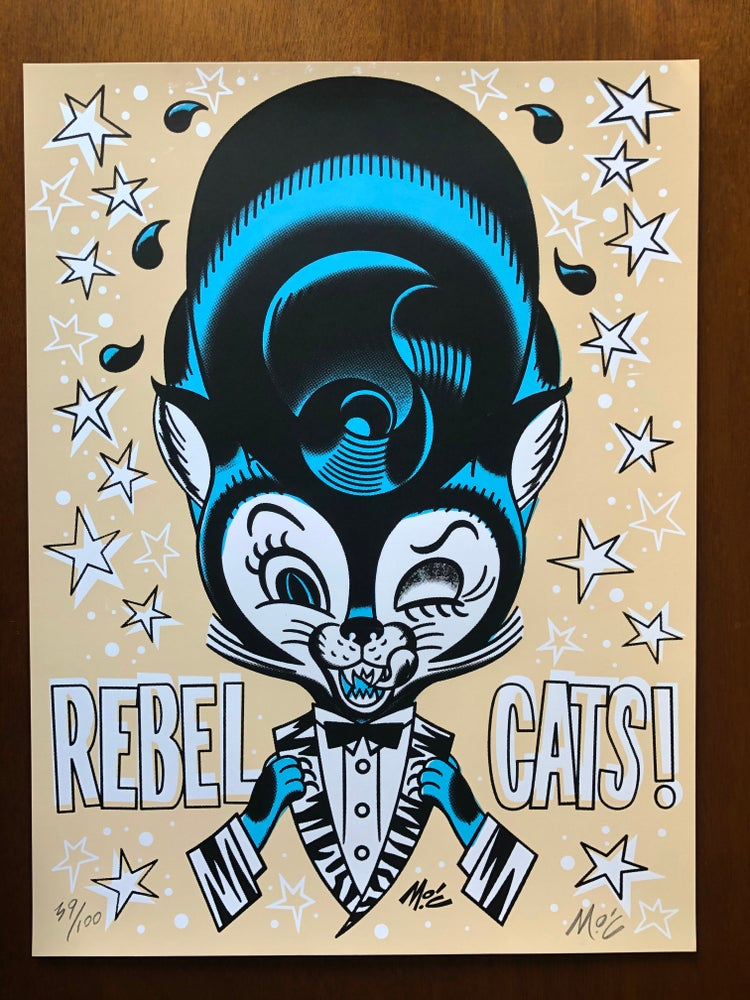 Image of REBEL CATS  x  Mitch O'Connell