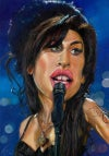 Amy Winehouse –Mounted Canvas