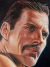Freddie Mercury –Mounted Canvas