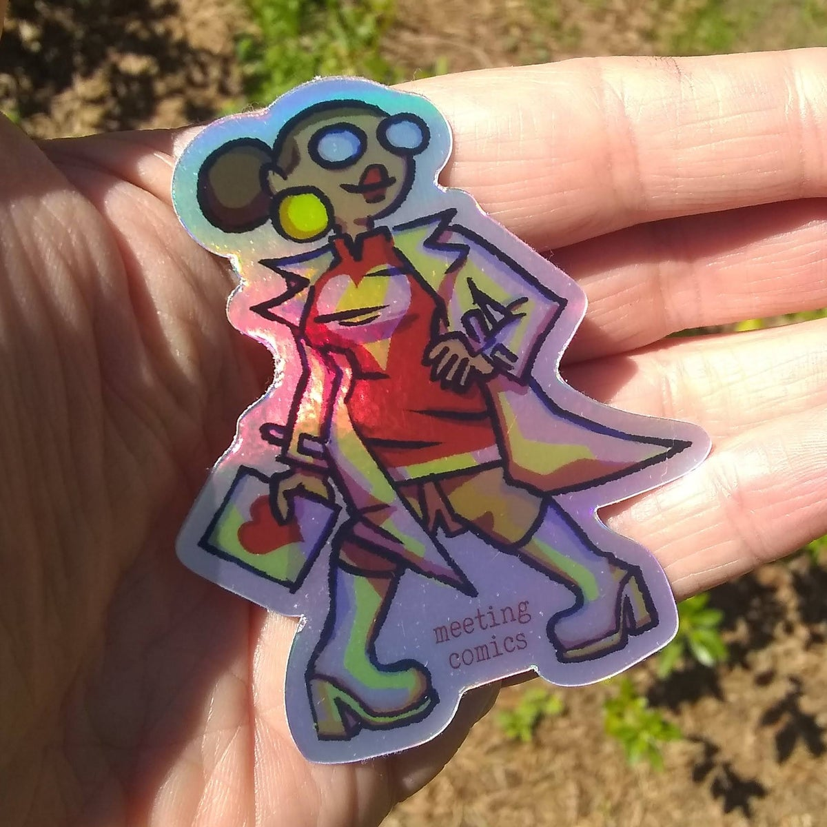 Image of Meeting Comics Val-entine Holofoil Sticker