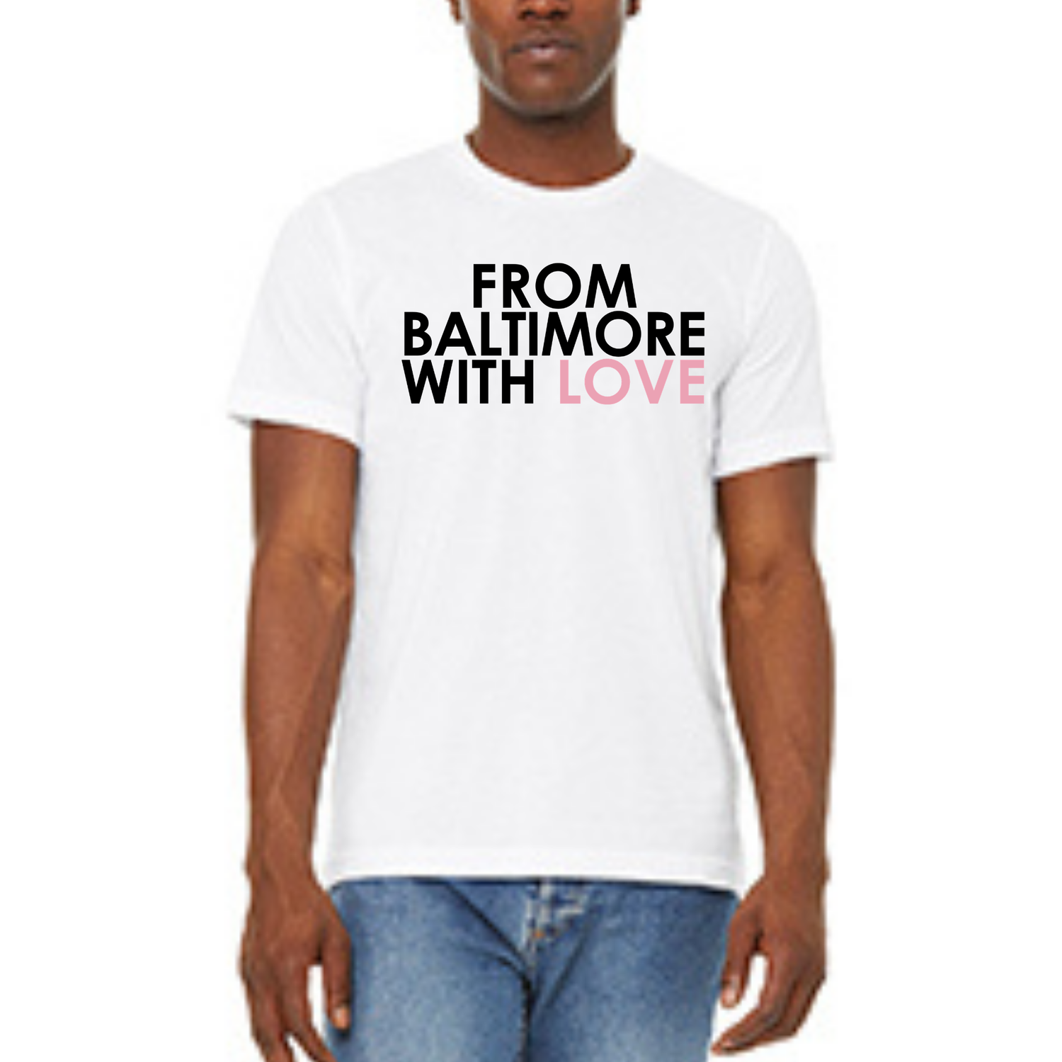 Image of From Baltimore With Love Original SS T-Shirt - White/Pink