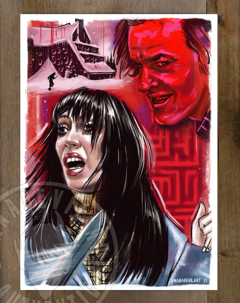 Image of The Shining mini print (Stephen King edition) 5x7 in.