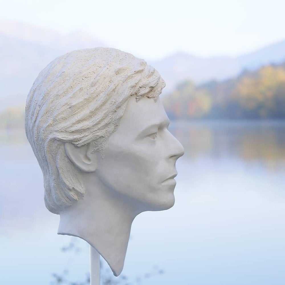 'Heroes' in White Clay (Full Head Sculpture)
