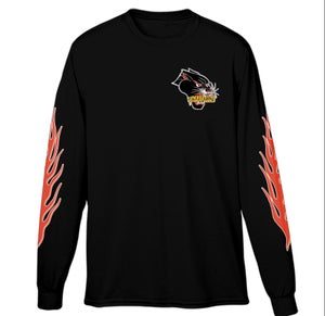 Image of Now in Black!!!  PAINTED LADY PANTHER LONGSLEEVE!