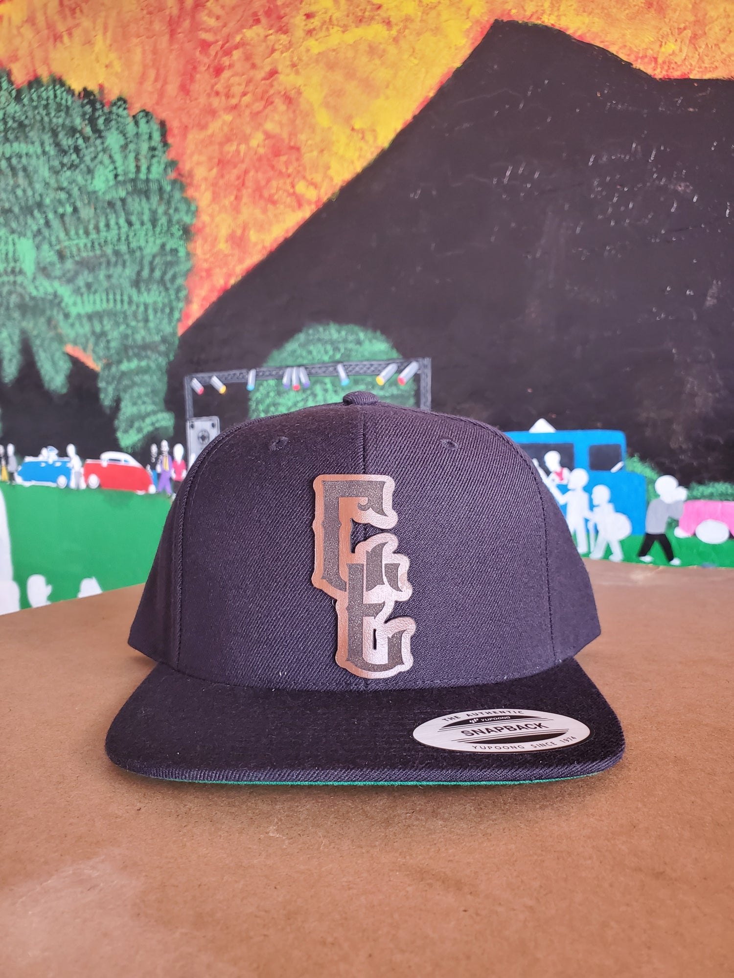 Image of Leather Snapback C/E- Brown
