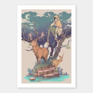 Image of The Lute and the Horn - A4 Print