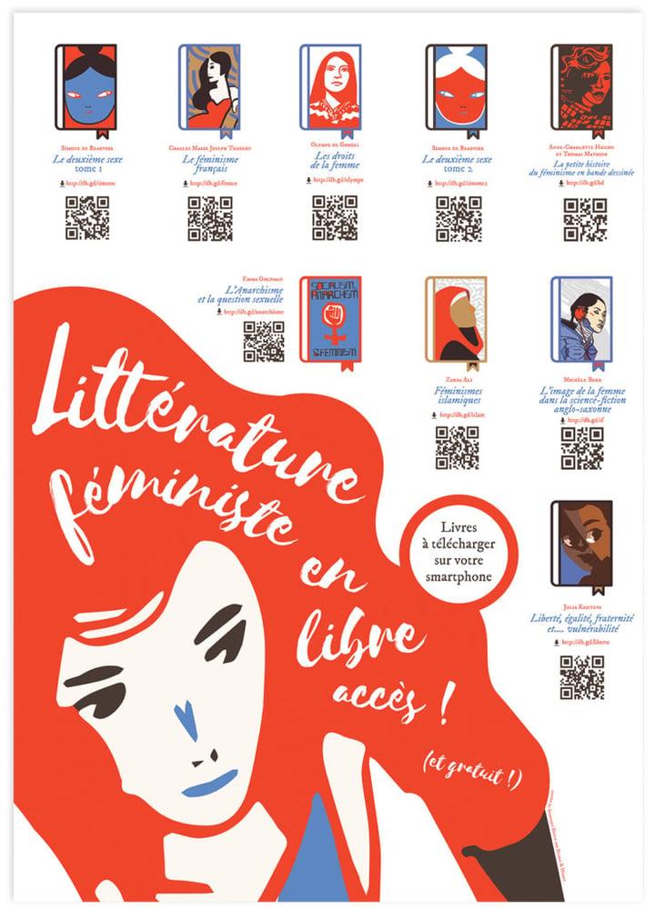 Image of Affiche : «Affiche de littérature féministe»