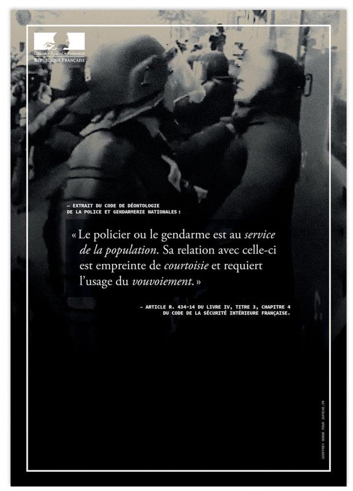 Image of Affiche : «Le code de déontologie de la Police — 3»