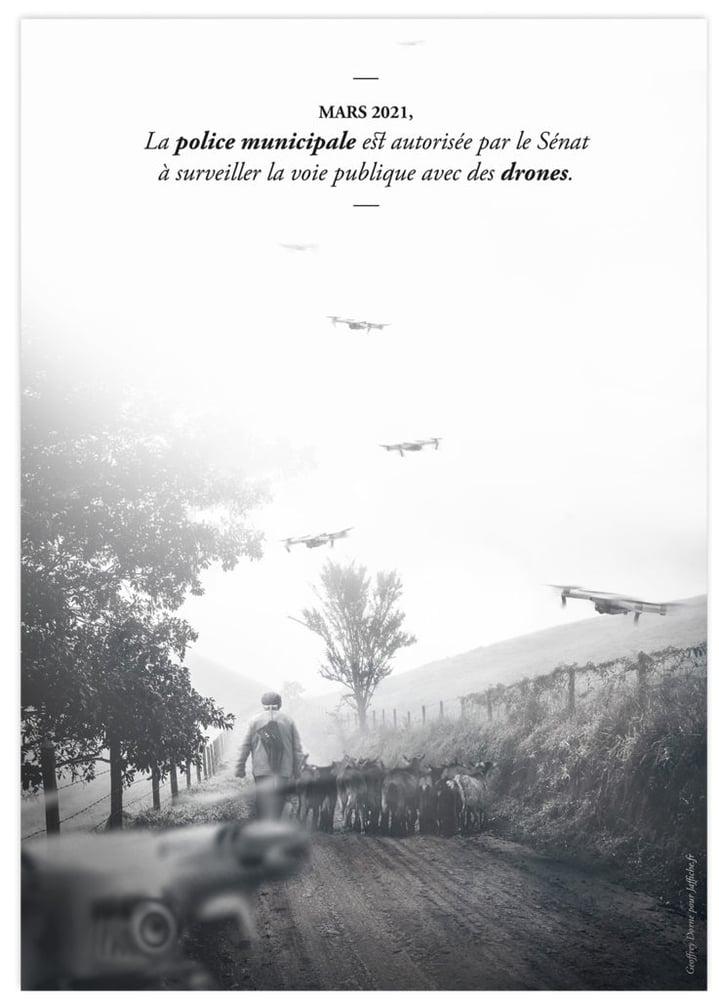 Image of Affiche : «Des drones dans la police municipale»