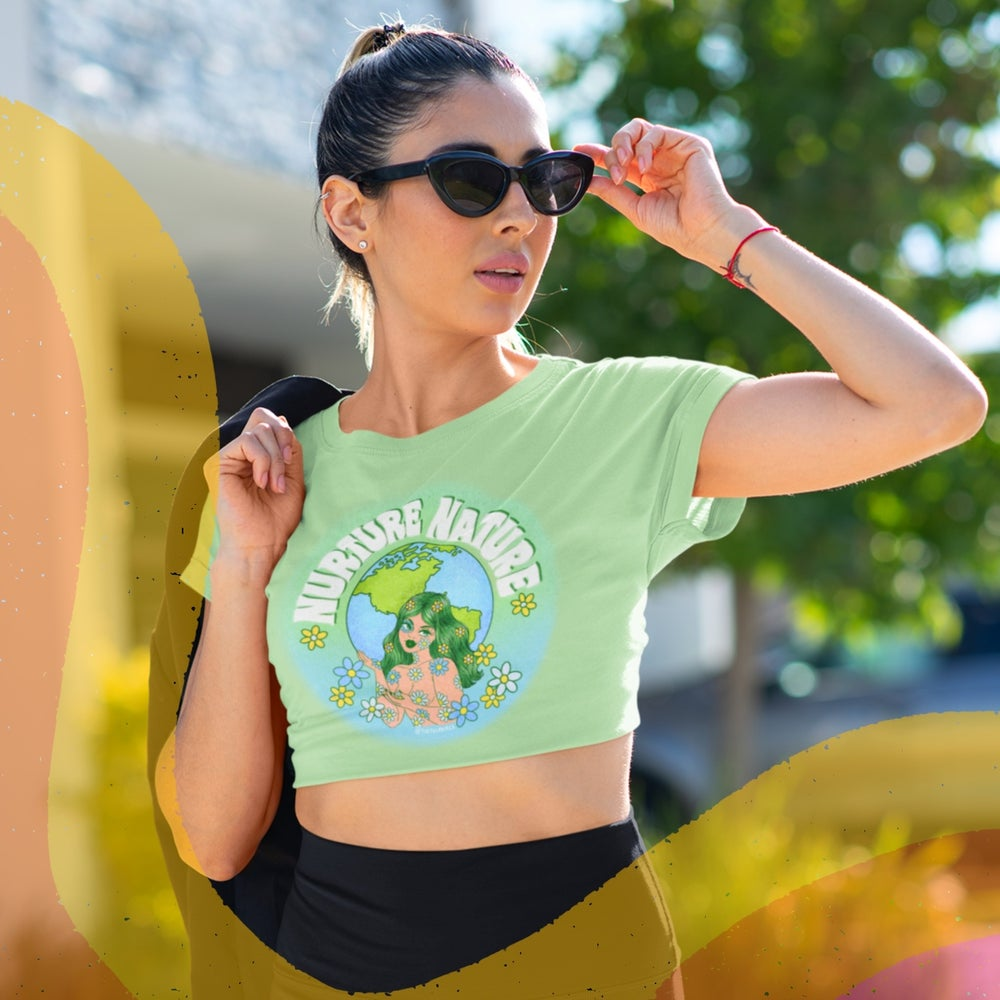 Image of NURTURE NATURE BABY CROPPED TEE