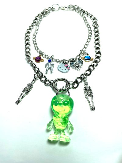 Image of Alien Charm Necklace
