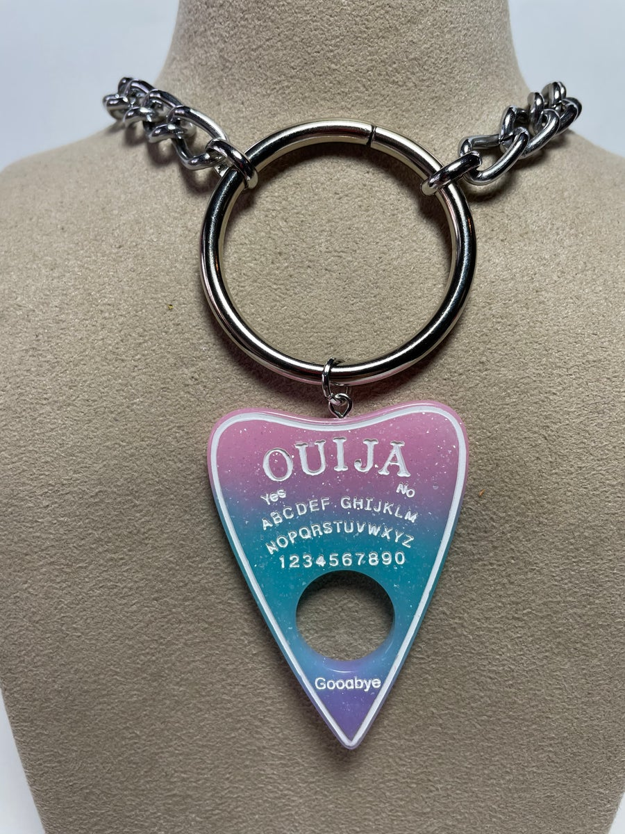 Image of Pink Rainbow Ouija Necklace