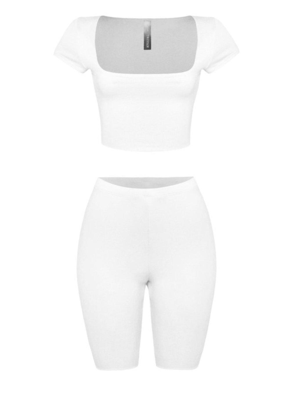 Image of Off White | Short Set