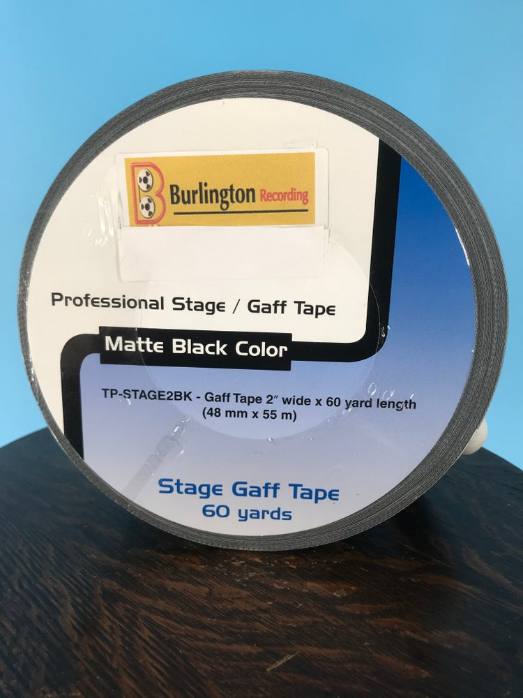 "Image of Burlington Recording 2"" x 180' Studio & Stage Black Gaffers Tape"