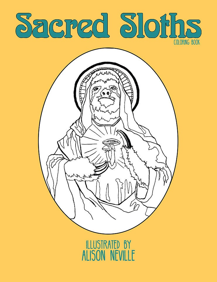 Image of Sacred Sloths Coloring Book