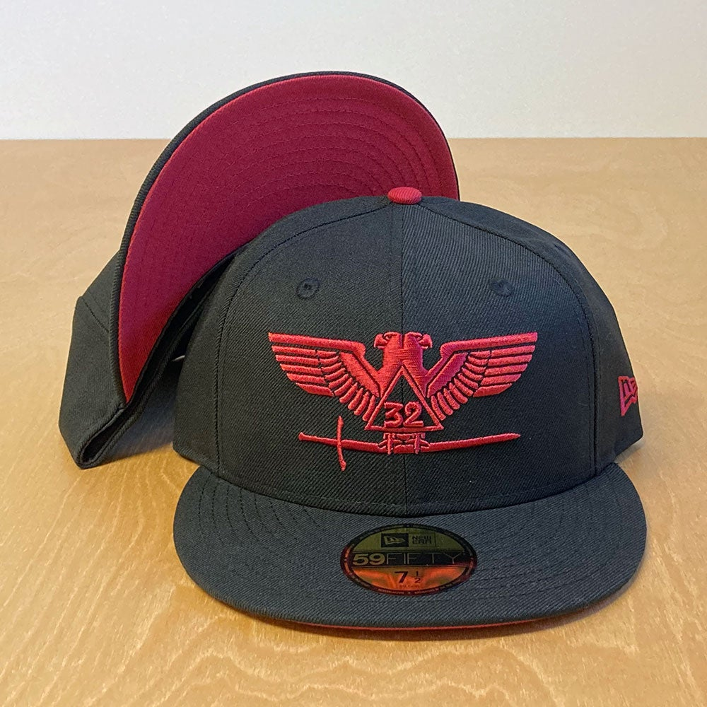 Image of  Scottish Rite Black Wool Fitted 59Fifty