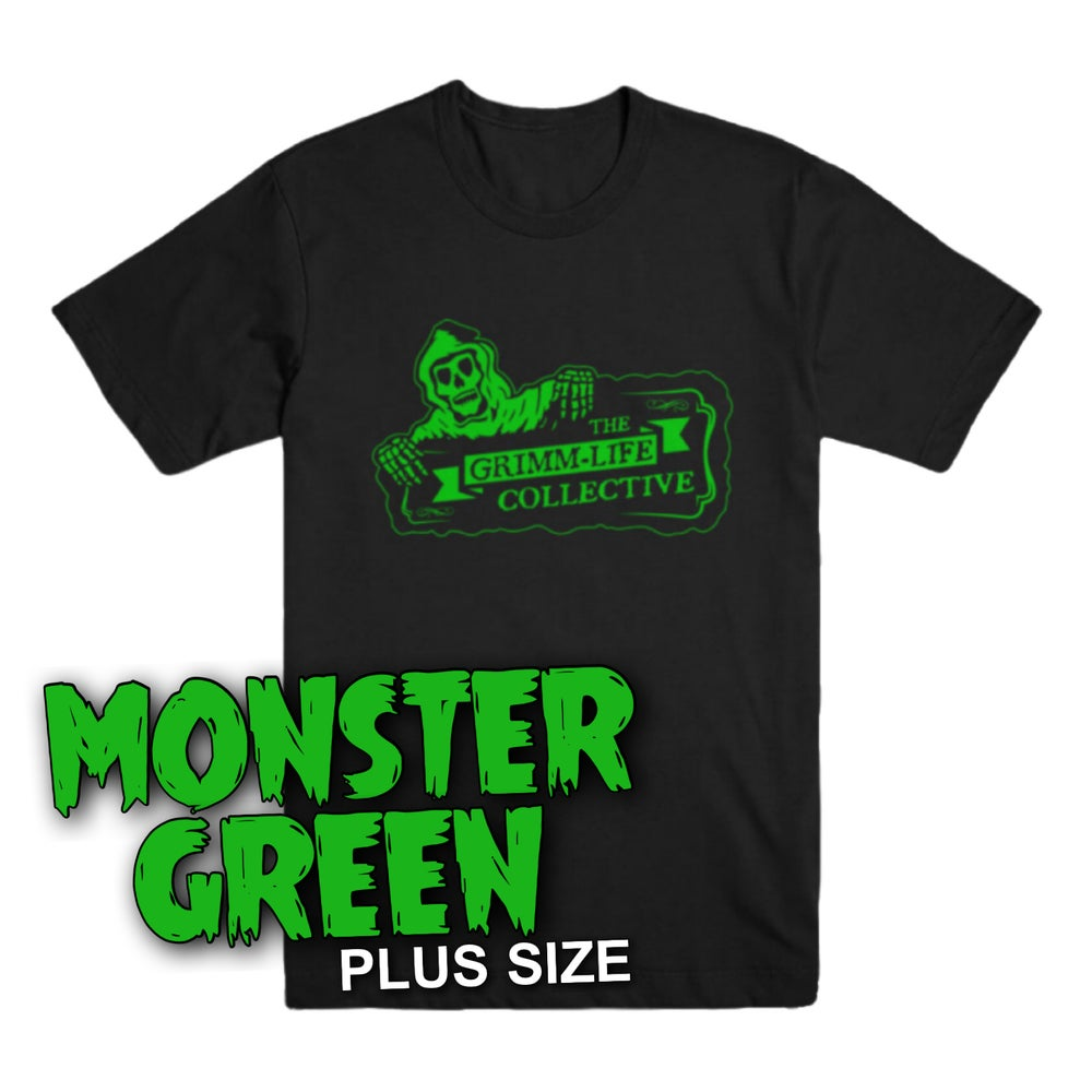 Image of MONSTER GREEN Grimm-Life Logo T-Shirt (Plus Size)