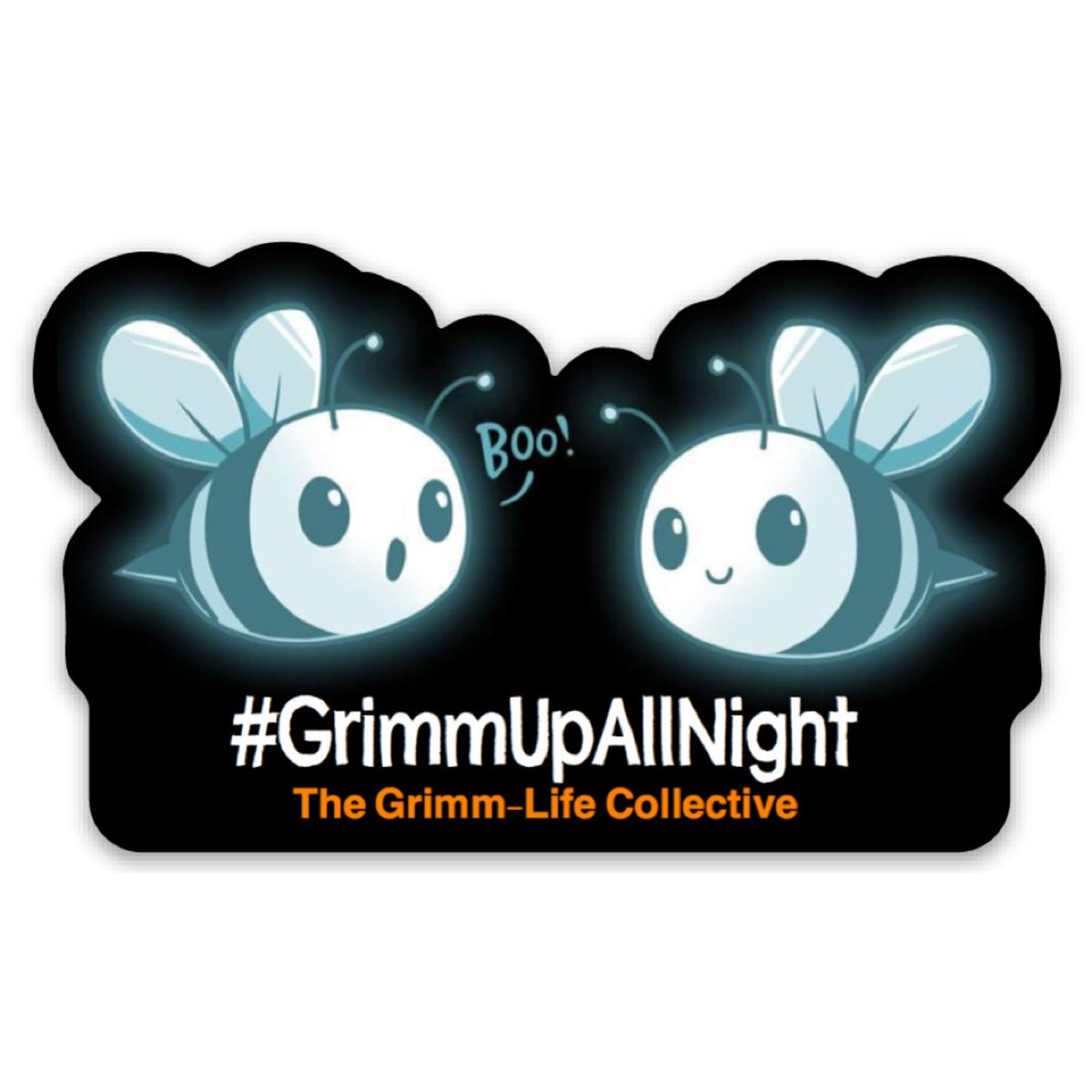 Image of #GrimmUpAllNight Boo-Bees Sticker