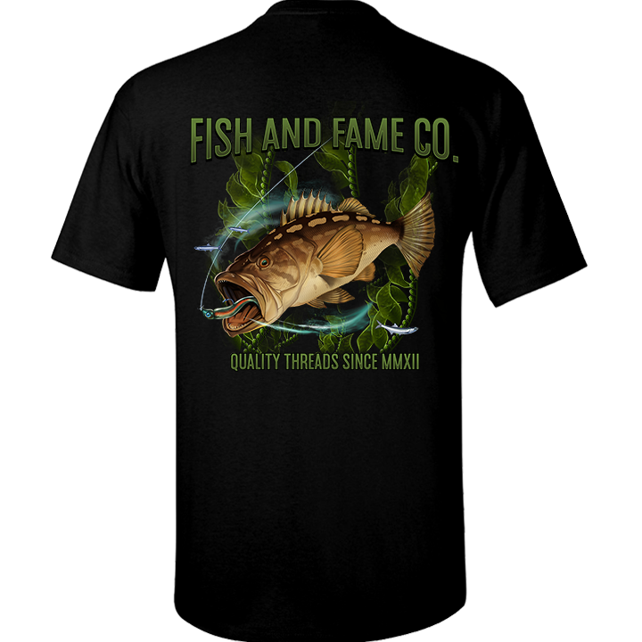 Image of Calico Bass Tee (black)