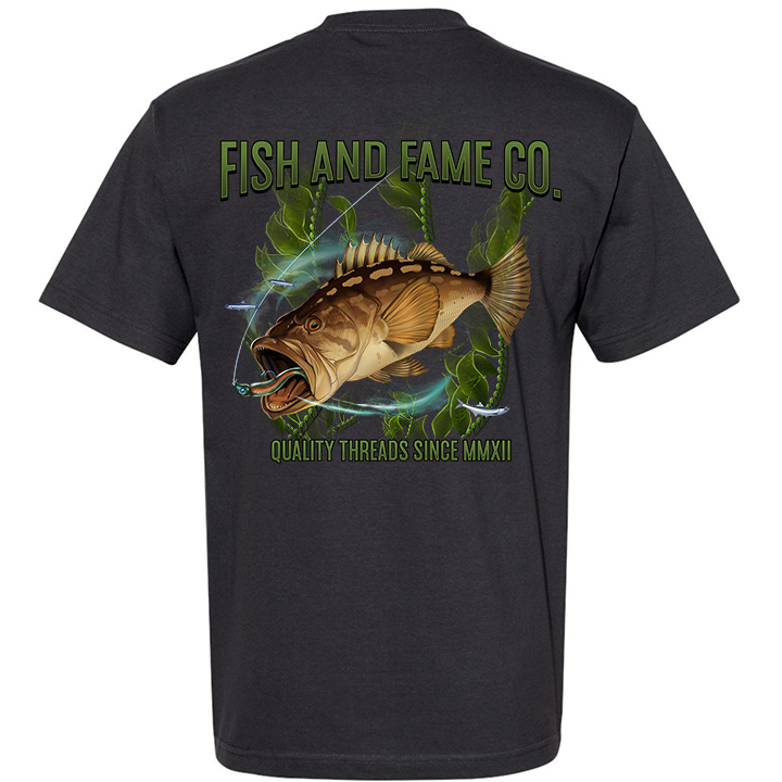Image of Calico Bass Tee (carbon)