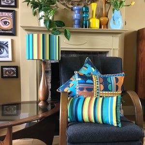 Image of NEW 'City Stripe Blue' Lampshade
