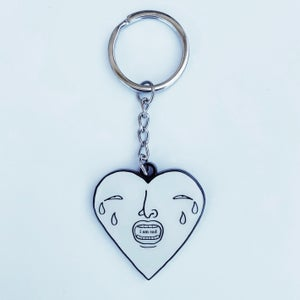 Image of crying heart- keyring