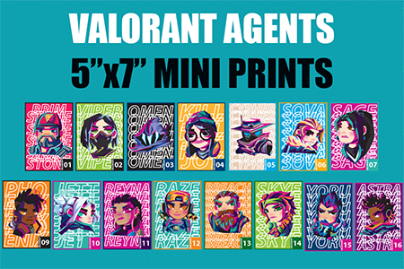 Image of Valorant Agents Mini Prints