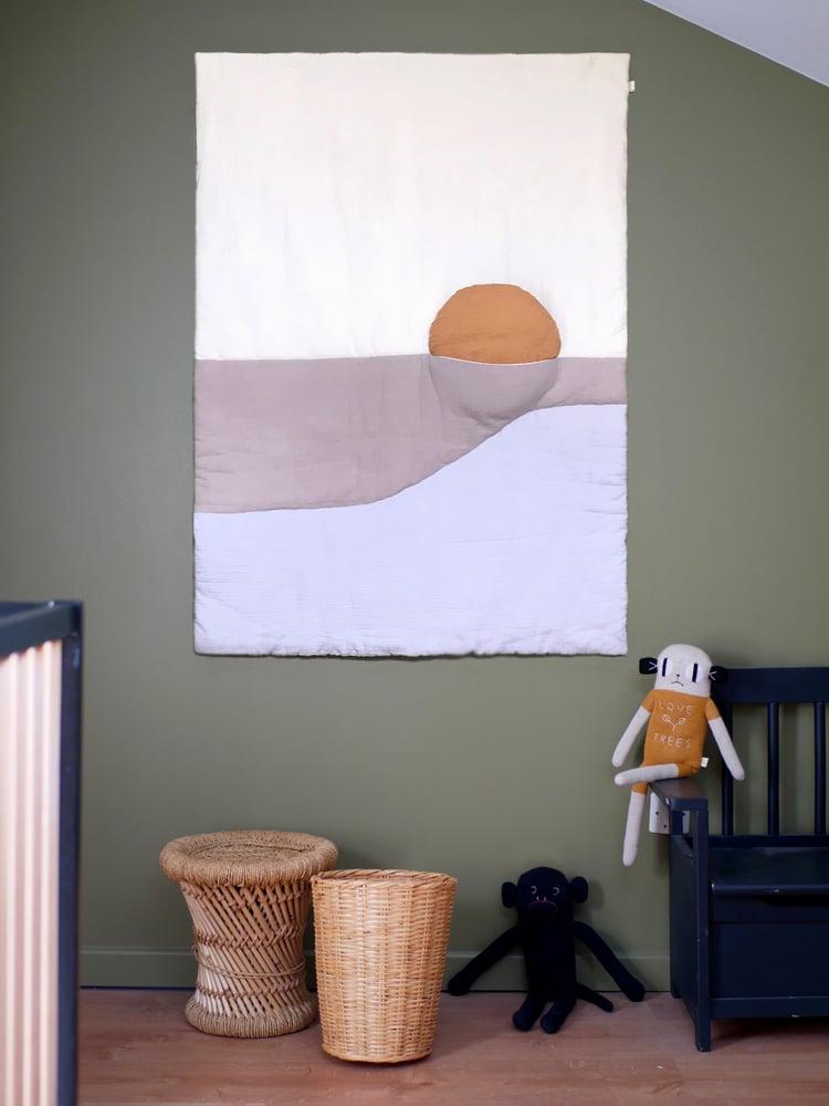 Image of Boutis SUNSET beige / Blanket