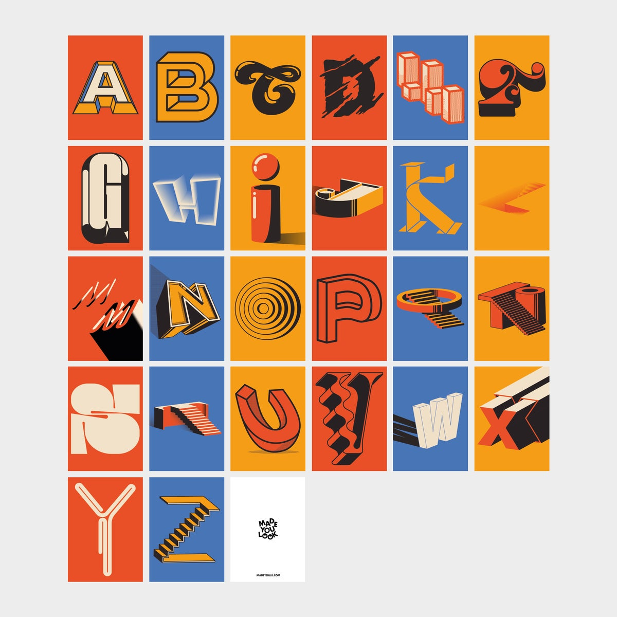 A-Z Full collection mini prints