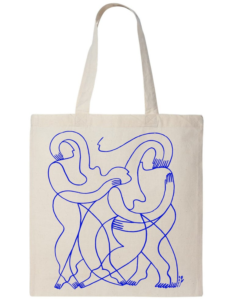 Image of Line Connect Canvas Tote Bag