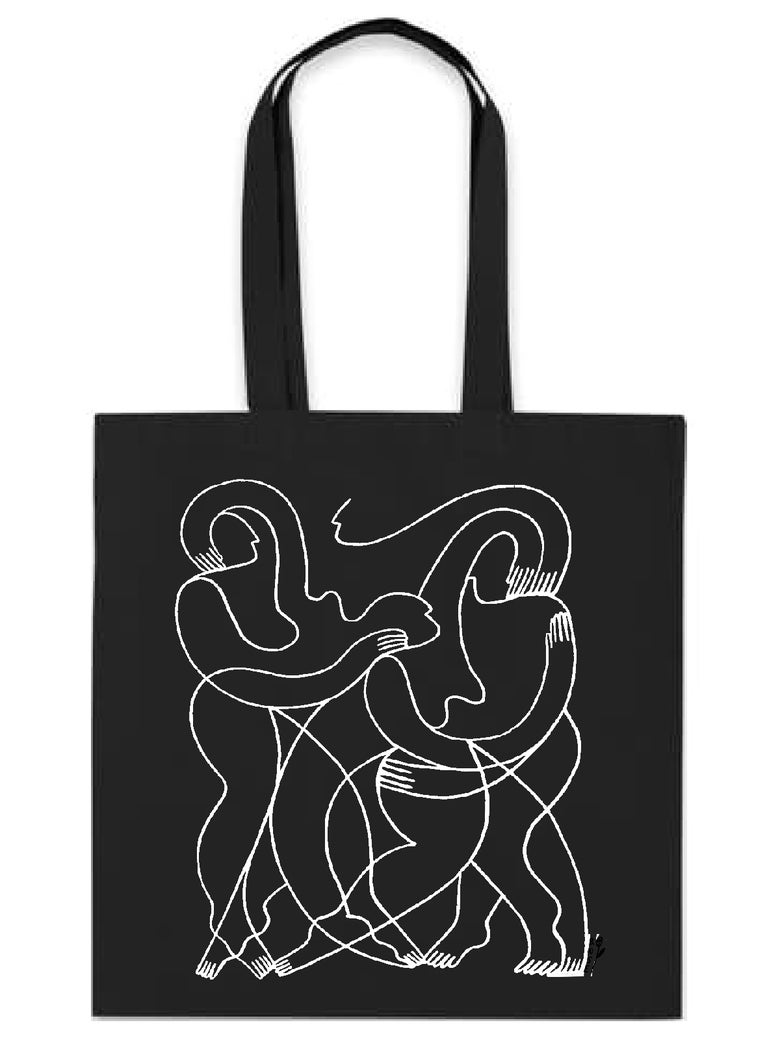 Image of Line Connect Tote Bag Black