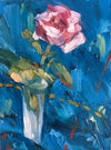 Rose study, original oil painting