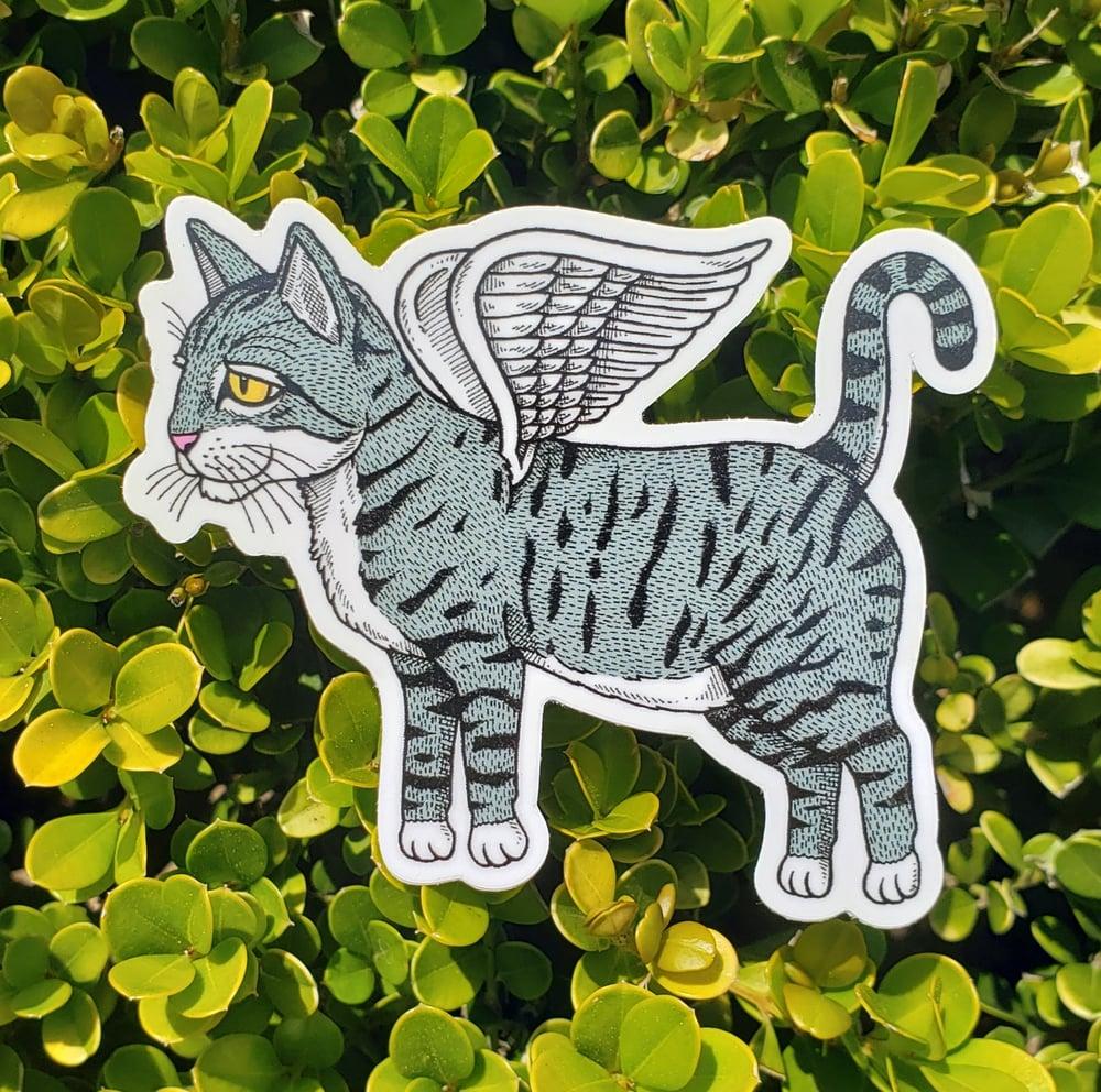 "Flying Cat 3"" Vinyl Sticker"