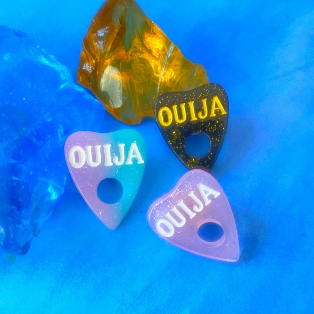 Image of OUIJA PLANCHETTE LAPEL PIN