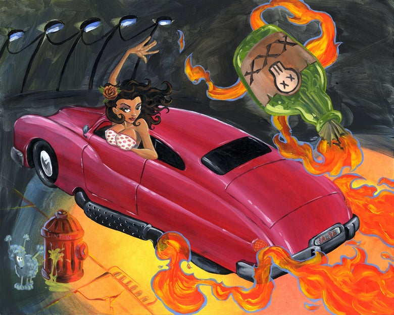 """Image of """"Lead Sled and a Salsa Cocktail"""" by JR Linton"""