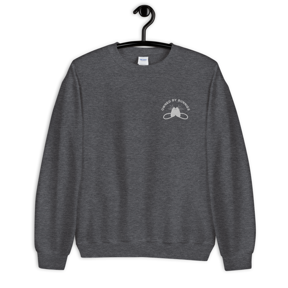 Image of *New* Blanco 'Owned by Bunnies' Embroidered Sweatshirt