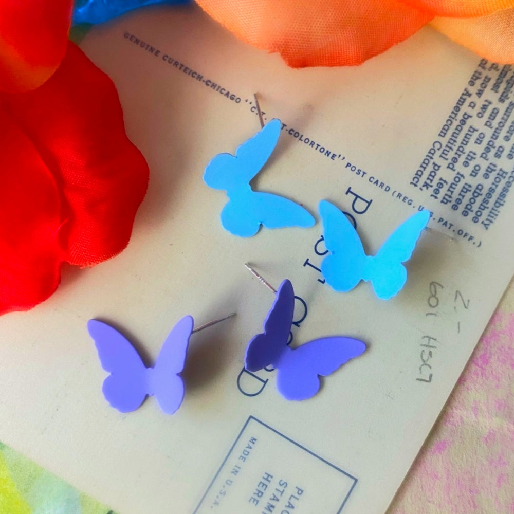Image of PASTEL BUTTERFLY STUDS