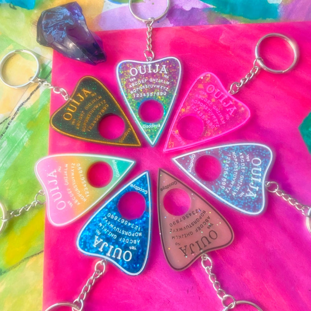 Image of OUIJA PLANCHETTE KEYCHAIN