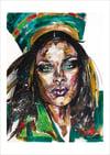 Rihanna Harpers Bazaar Giclée Print