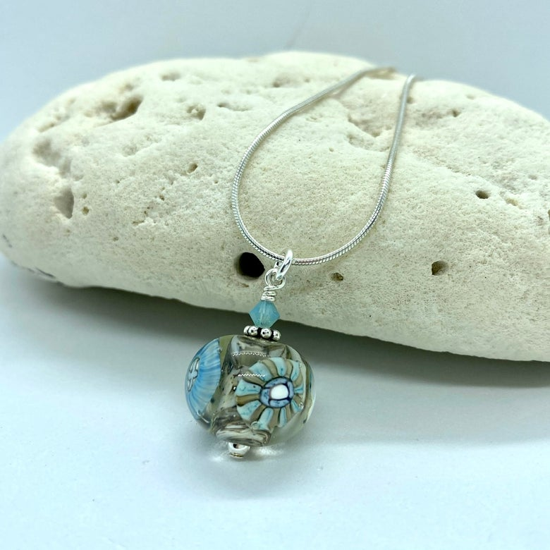 Image of Stormy Weather Turquoise Crystal Bobble