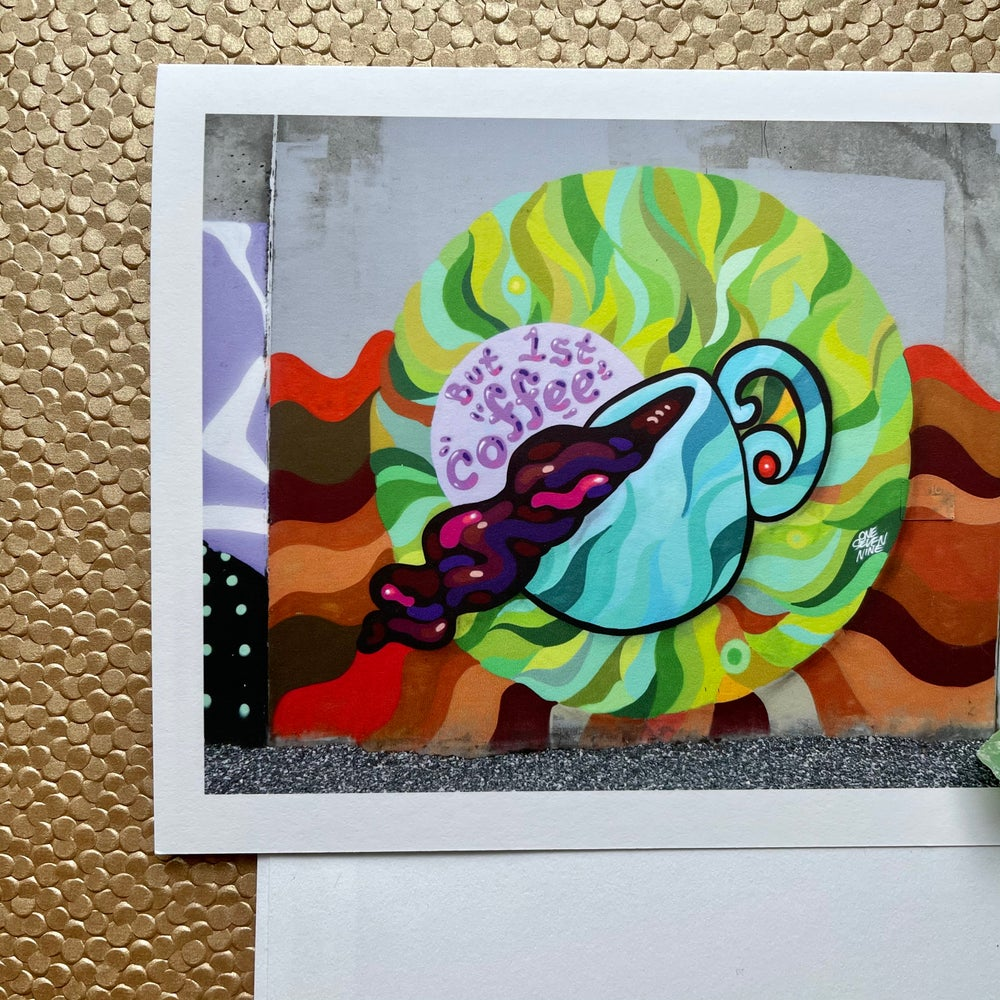 Image of But 1st Coffee Mural  Blank Card