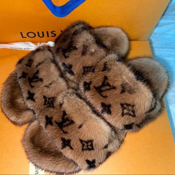 Image of LV Fur Slides