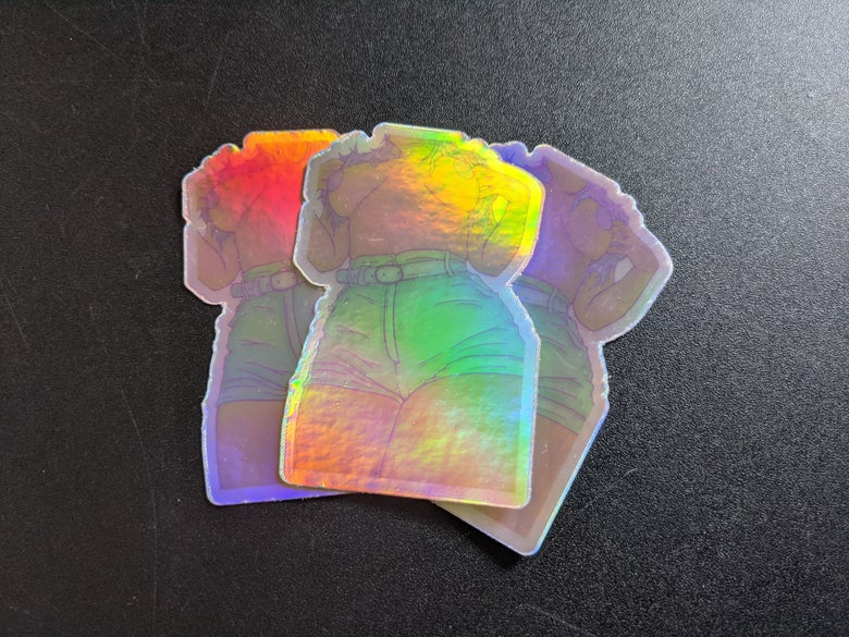 Image of Praise a high waist holographic stickers