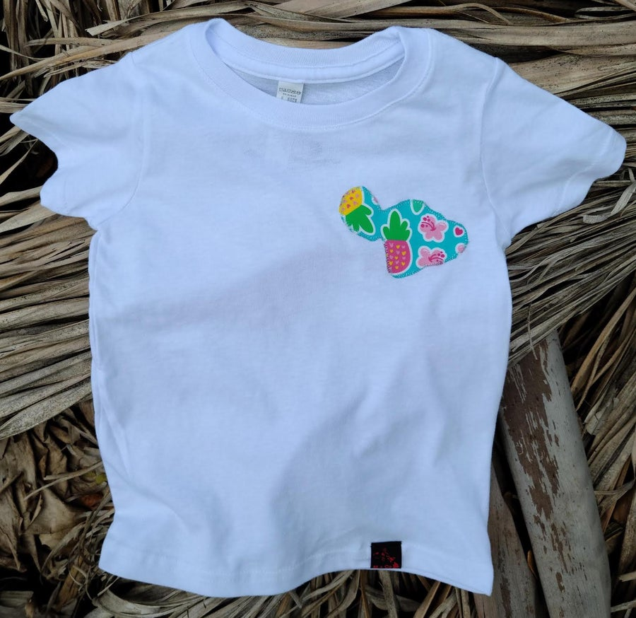 Image of Pineapple and Hibiscus Maui Tee