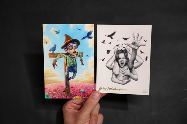 """Image of SIGNED Postcard Set - """"The Scarecrowl / Noise"""""""