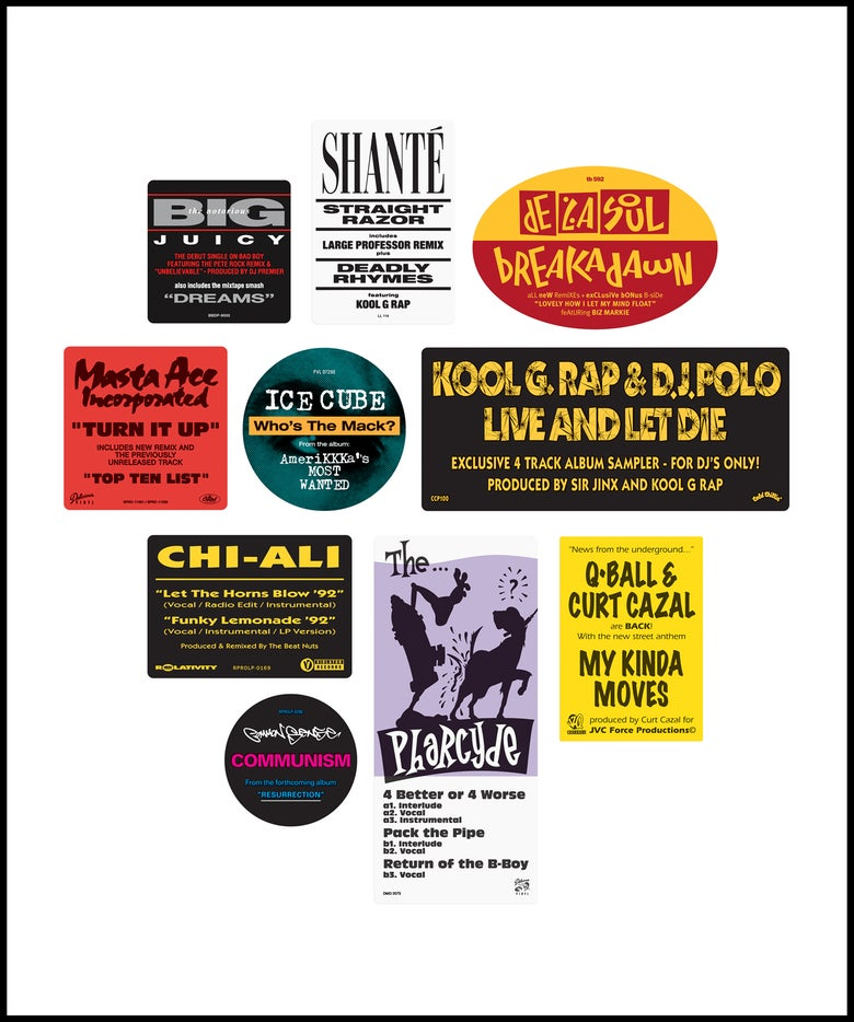 """Image of """"Don't Believe The Hype...Sticker"""" 1990s pack No. 2 (April 2021)"""